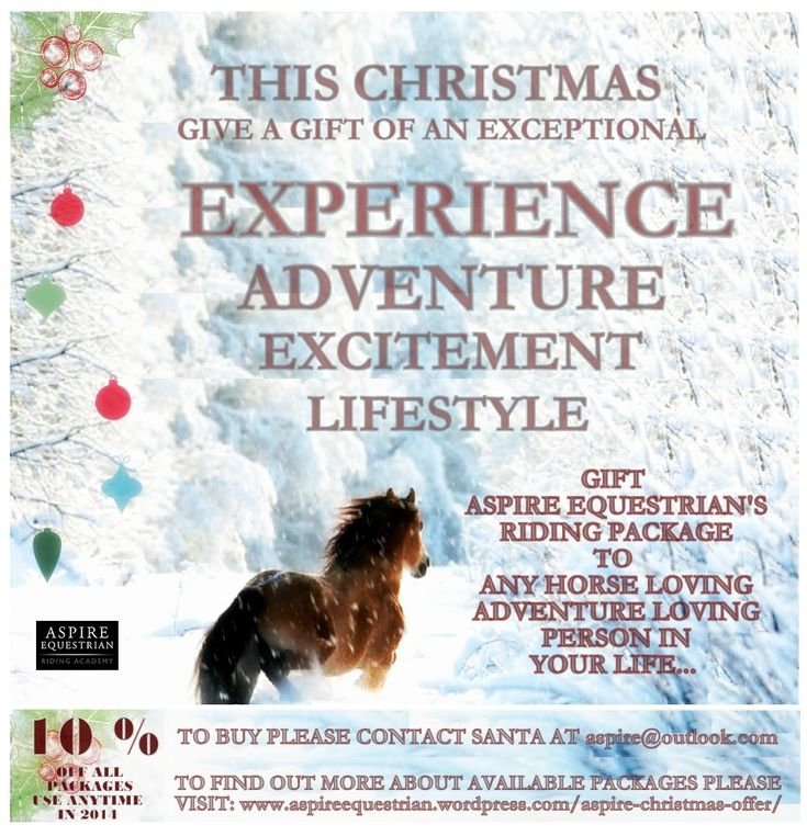 Gift of Experience, Adventure, Excitement and Lifestyle - Aspire Equestrian's Christmas Offer is Here!