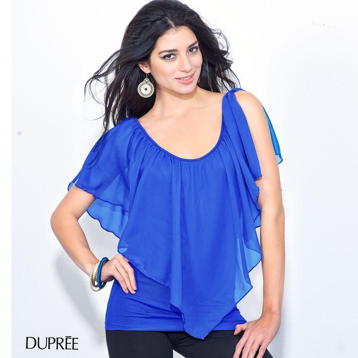 El azul resalta tu piel. Moda femenina colombiana DUPREE
