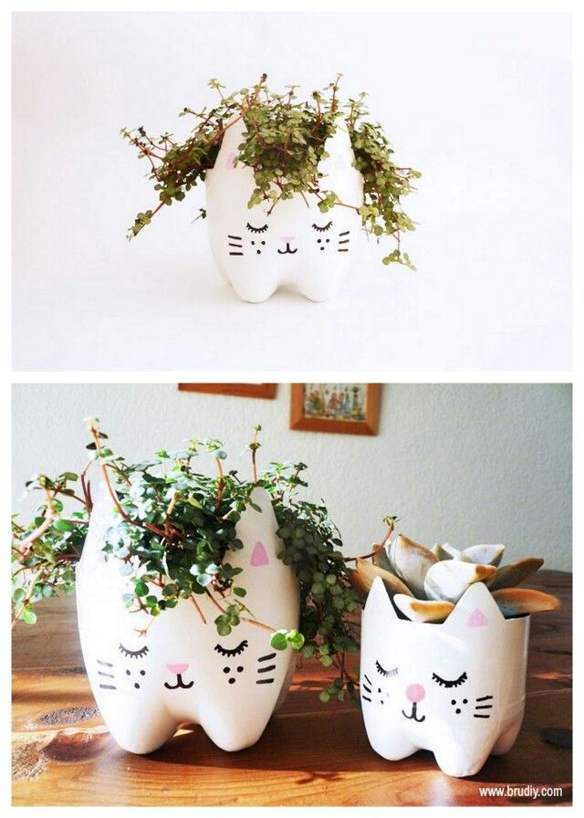 Diy Plant Holders From Plastic Bottle Bottoms So Cute