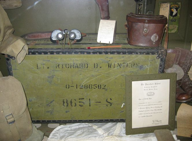 Richard D. Winters *** Lt. Richard D. Winters' footlocker at the Death Man's Corner Museum in St. Come du Mont, Normandy, France (Picture Courtesy of Rick Demas)