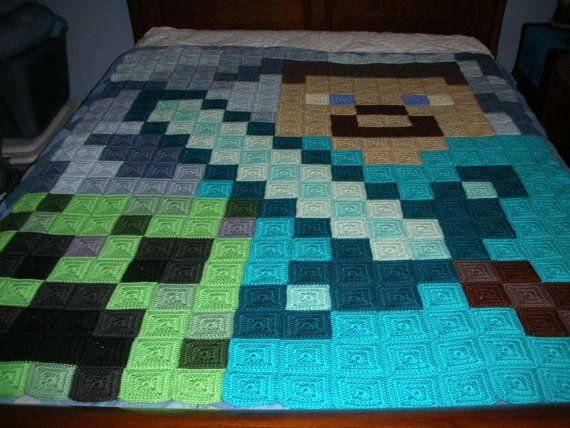 Minecraft Crochet Afghan Pattern Free : Minecraft Steve Blanket www.imgarcade.com - Online Image ...