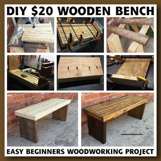 DIY $20 Dollar Beginner Wooden Bench Project