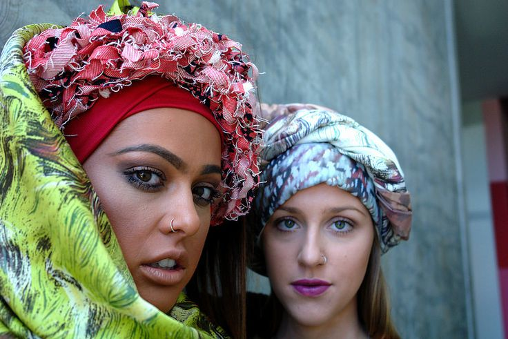 Kayla and Amy - my delightful scarf models | Flickr - Photo Sharing!