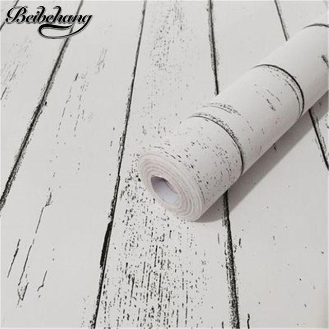 Beibehang Ретро текстура древесины самоклеющиеся обои водонепроницаемый и влагостойкий ПВХ окружающей обои papel де parede