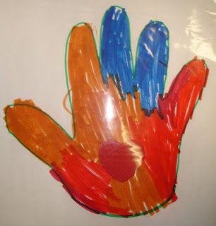 Mama Bear's Book Nook: Kissing Hand Art