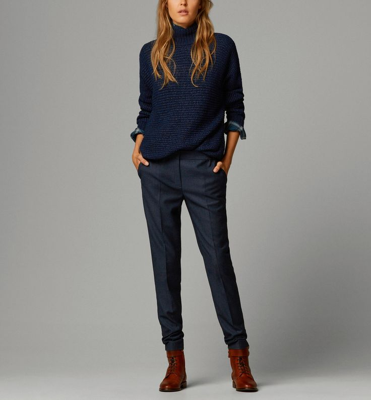 TROUSERS WITH BACK POCKETS - New - WOMEN - Ukraine