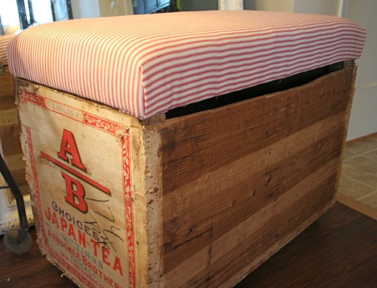 shipping crate furniture. vintage shipping crate turned into storage bench furniture c