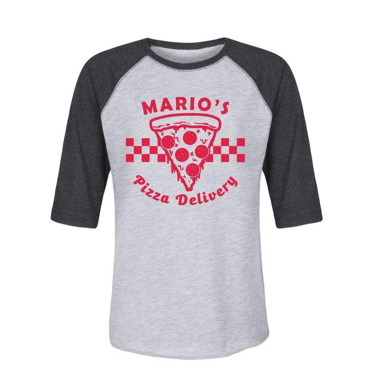 Mario's Pizza Delivery Toddler Raglan