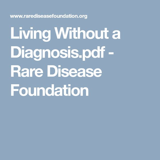 Living Without a Diagnosis.pdf - Rare Disease Foundation