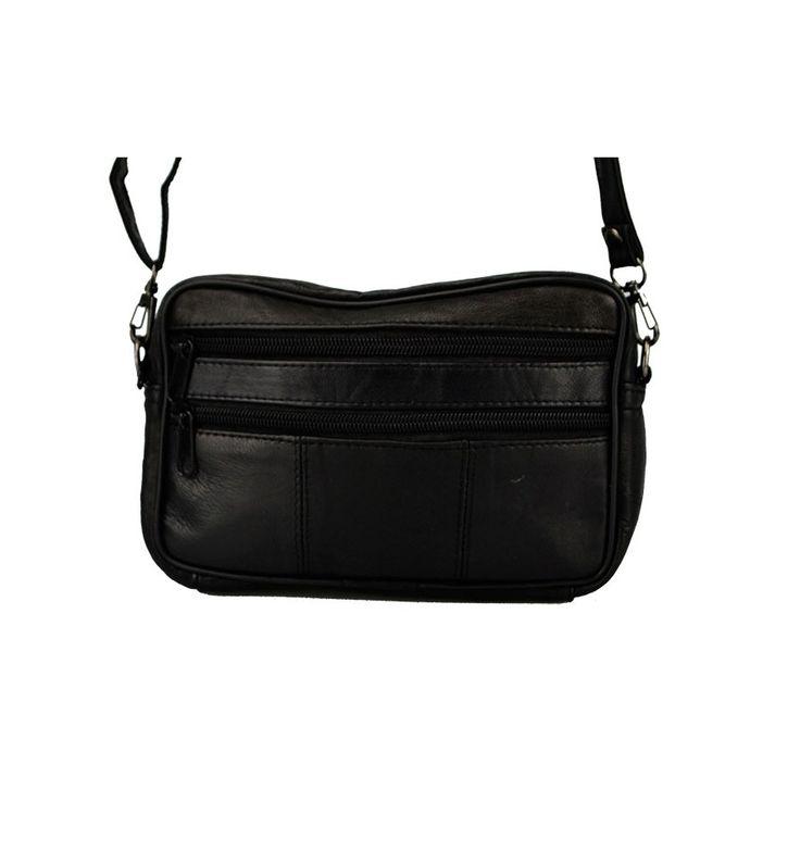 Lille herre taske i sort kalveskind - kan købes her hos zachos.dk