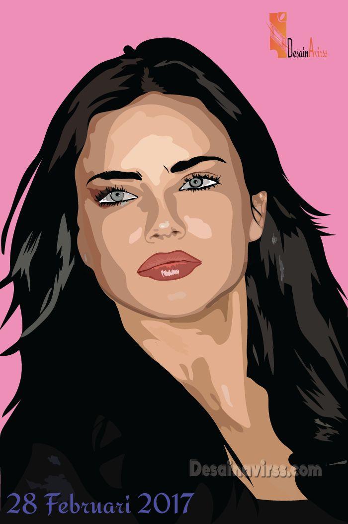 Gambar Kartun Artis Seksi Adriana lima Bintang dari Merek Victoria Secret - https://desainavirss.com/gambar-kartun-artis-seksi/