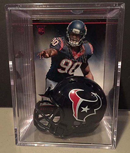 Houston Texans NFL Draft Helmet Shadowbox w/ Jadeveon Clowney card