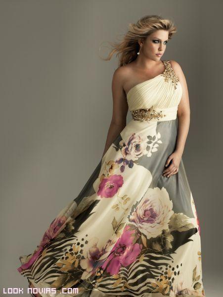 vestidos asimétricos con flores