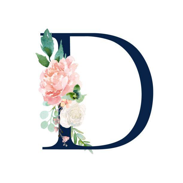 Buchstabe Letter D Lukisan Huruf Lukisan Huruf