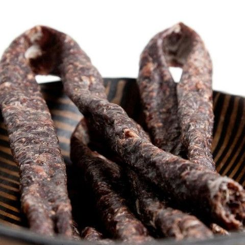This is Karoo Droewors - Dry Sausage. It has more of a wild flavour compared to the Traditional. It is all beef and ready to enjoy!