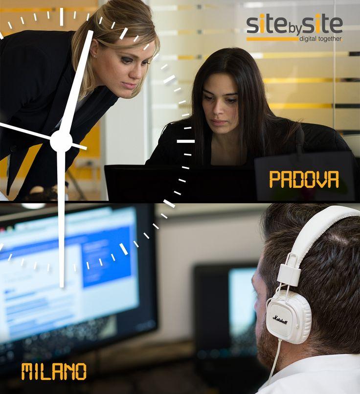 Perfettamente sincronizzati i nostri Specialist nelle due sedi di Site by Site, a Padova e Milano. Buon lavoro!