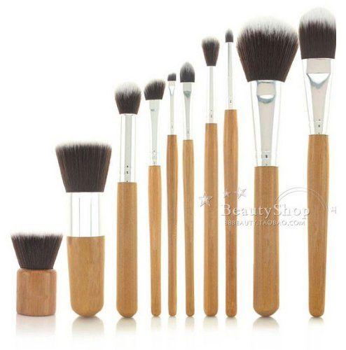 Natural Bamboo Handles Super Soft Bristles Eco-friendly 10 pcs Makeup Brush Set LyDia http://www.amazon.co.uk/dp/B00IEB38RE/ref=cm_sw_r_pi_dp_SdZdvb0CQ5FRH