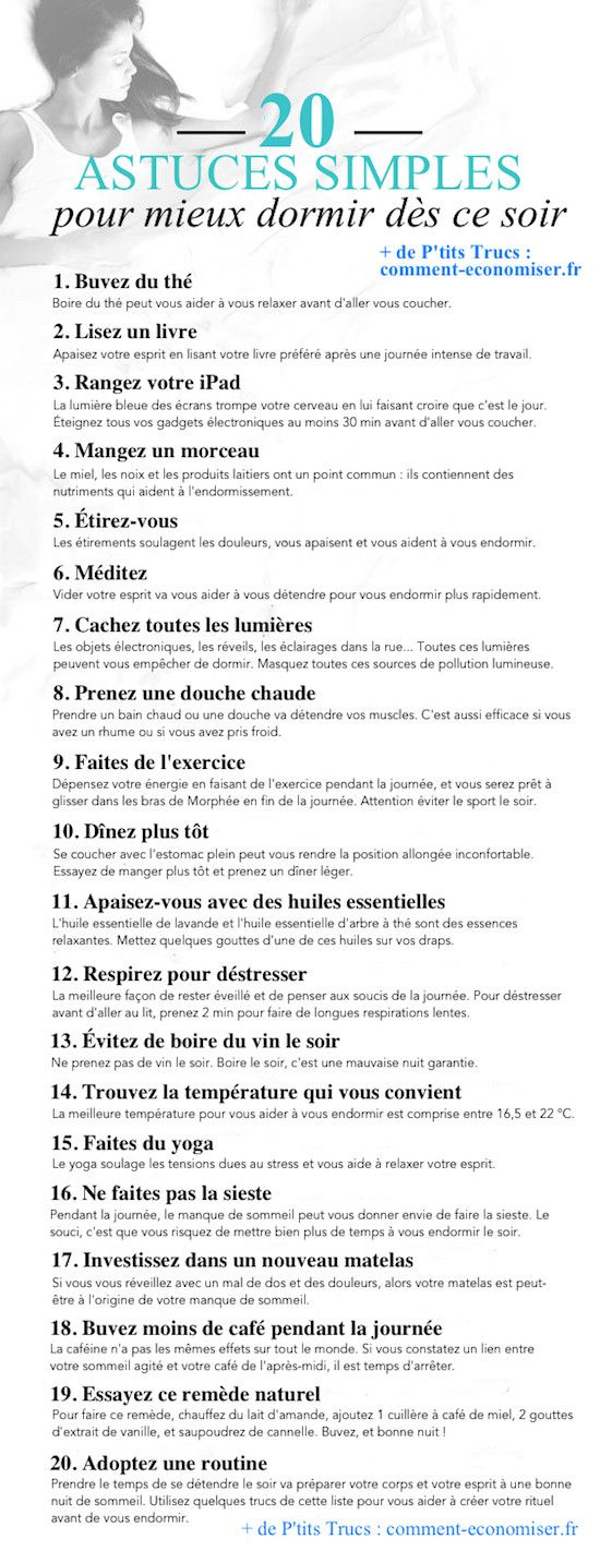 20 Astuces Pour Vous Endormir En Quelques Minutes DÈS CE SOIR.