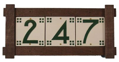 Mission style cedar wood frames house number frame for House number frames