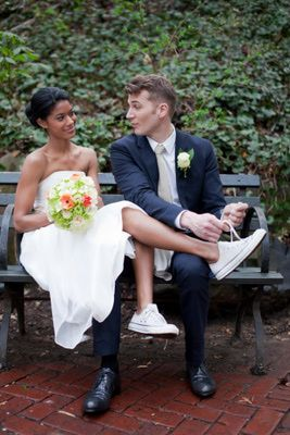 Custom Wedding Shoes for the Traditional & Non-Traditional Bride/could have bride tie her own shoe