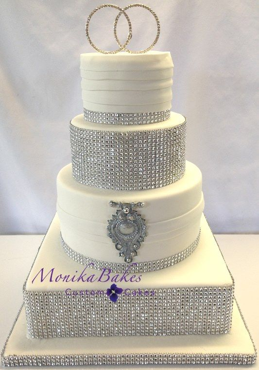 Pink And Silver Wedding Cakes Wedding Cake Silver