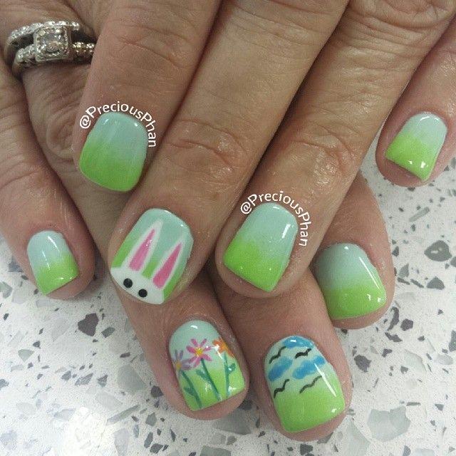 preciousphan easter #nail #nails #nailart