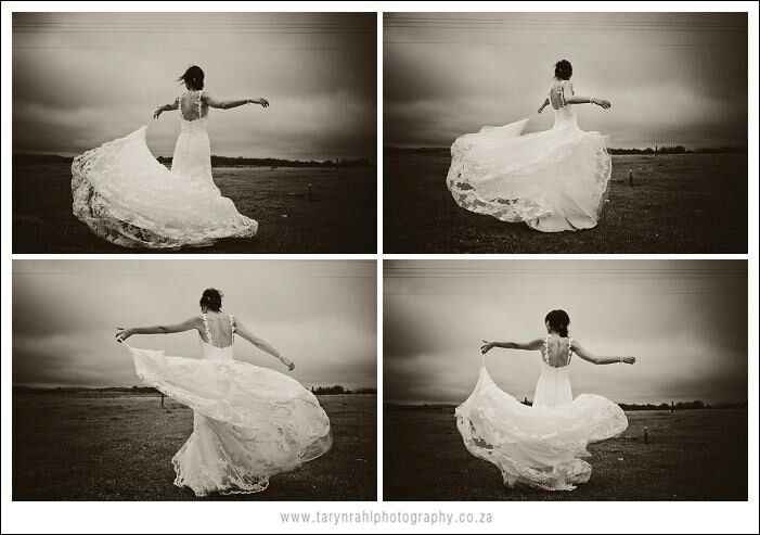 You know when you put on a dress and you just wanna spin?? Wedding dress = perfect opportunity