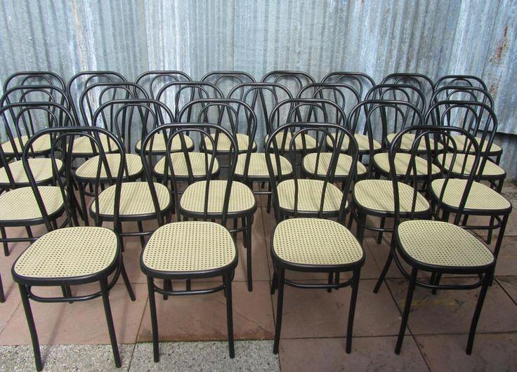 Partij zwarte bistro stoelen/ cafestoelen van Effezeta, made in Italy