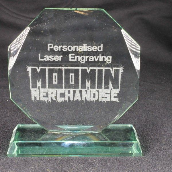 Engraved Glass Trophy