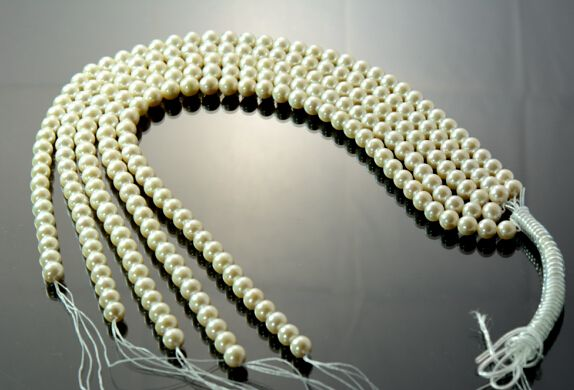9-10 MM NATURAL WHITE PEARL BEAD STRANDS, 47 BEADS, LOOSE PEARLS ,PEARL FACTORY
