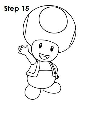 How To Draw Toad Nintendo I Love To Draw In 2019