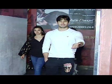 Sidharth Malhotra & Alia Bhatt watched Aamir Khan's DANGAL lately in Juhu PVR.