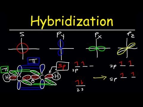 (7) Hybridization of Atomic Orbitals, Sigma and Pi Bonds, Sp Sp2 Sp3, Organic Chemistry, Bonding - YouTube