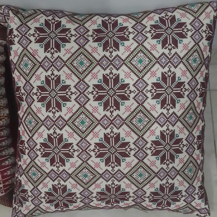 Handmade embroidered cushions. Contact : 00970599781148