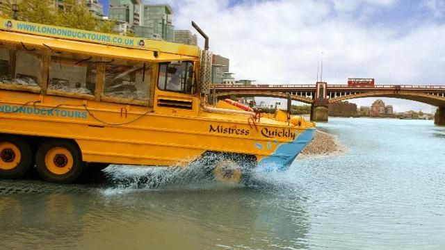 London Duck Tours – Amazing Amphibious Adventure near the London Eye. It's the only way to experience the sights and sounds of Central London on land and river without leaving the comfort of your seat!