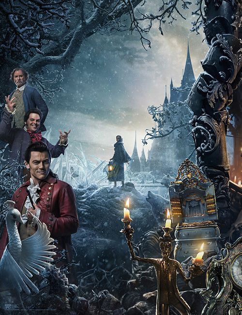 New Beauty and the Beast official poster with the full cast