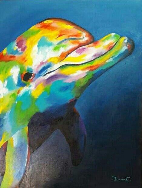 #delfín #acrilico