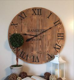30 inch clock. Personalized clock. Customized clock. Family gift. Wall hanging. Oversized clock.