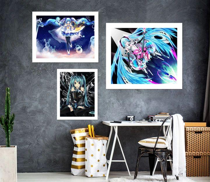 Hatsune Miku A996 Anime Combine Wall Sticker YY Anime in