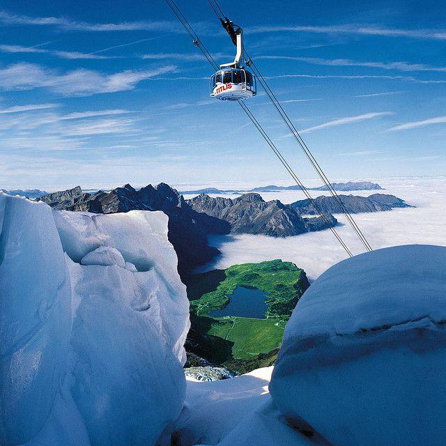 Cableway Gondola to Mount Titlis in Engelberg, Switzerland.