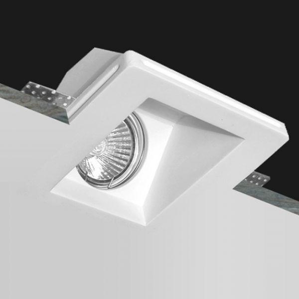PORTA FARETTO DA INCASSO IN GESSO SCOMPARSA CSF070 45° LAMPADA PER FARETTI GU10 - PORTA FARETTI - ILLUMINAZIONE LED - Negozio Online - Futur Print snc luceled.com