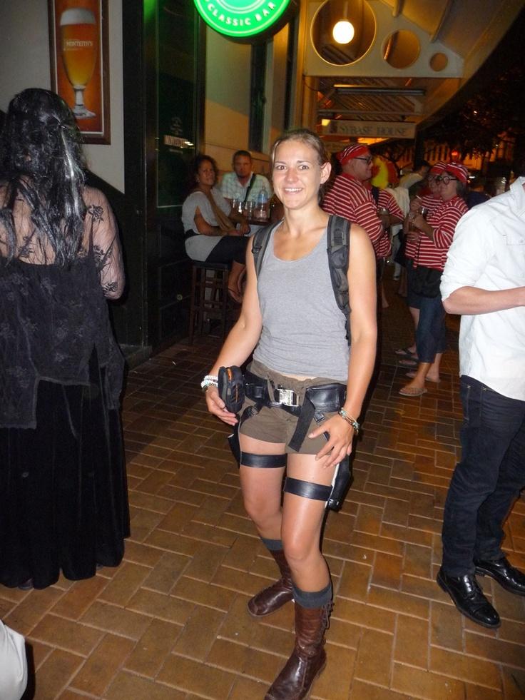 #greatwalker - Wellington 7s, Me as Lara Croft