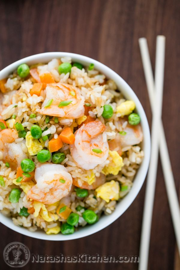 This Shrimp Fried Rice is one of my go-to 30-minute meals and my boys can't get enough of this delicious goodness.