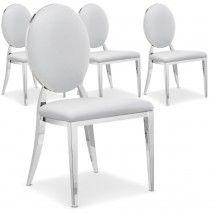 Chaise blanche Medaillon