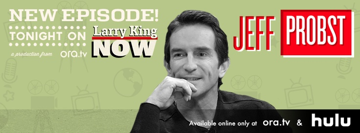 Jeff Probst, Emmy-winning host of Survivor and now his own talk show, shares with Larry King his struggles in daytime television and the uncertain fate of his eponymous program. Plus, the newly married Probst opens up about the joys of family and fatherhood.    Watch this full episode of #LarryKingNow on Ora TV & Hulu: http://on.ora.tv/Sc9vLQ