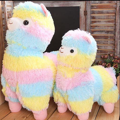 35cm Rainbow Alpaca Plush Toy Vicugna Pacos Japanese Soft Plush Alpacasso Sheep Llama Stuffed Toy Gifts for kids and Girls