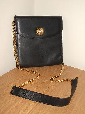 Genuine vintage Chloe handbag, black epi leather evening shoulder ...