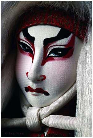 Japanese Kabuki Doll - Artist: Mary Bavouset