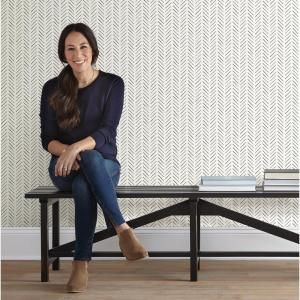 Magnolia Home by Joanna Gaines 56 sq. ft. Pick-Up Sticks Wallpaper, Black
