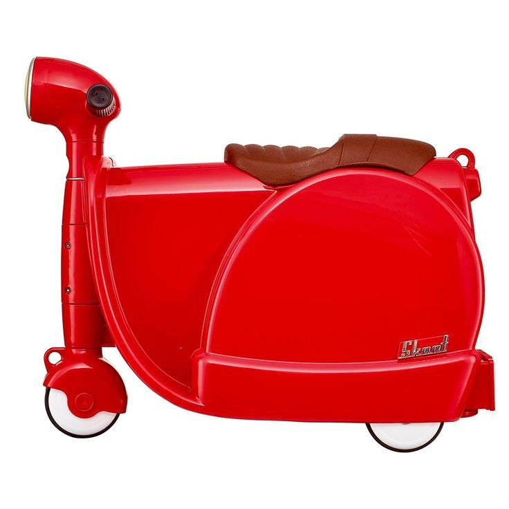 Le vacanze in famiglia e le notti fuori casa diventano ancora più divertenti!    Questa valigia per bambino, bella e robusta, è l'ideale compagna di viaggio per i vostri figli. Un regalo davvero originale!    Grazie alle rotelle, la valigia è ideale per il trasporto o per sedersi. Può essere utilizzata per un breve soggiorno o per un volo,